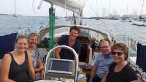 Terese, Mai, Martin, Henning og Iben til eftermiddagskaffe