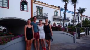 Mai, Martin, Kristine og Terese i Mogan