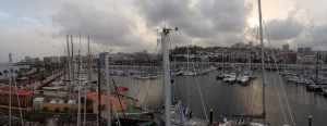 Smuk udsigt over Las Palmas fra mastetoppen