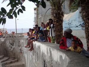 Afrikanere på mur