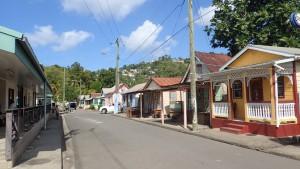 Hovedgaden i Anse La Raye