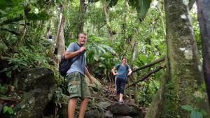 Jakob og Martin i regnskoven