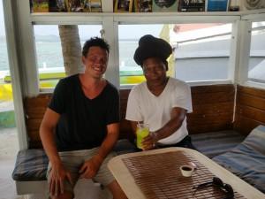 Martin og ejeren af Palm Island