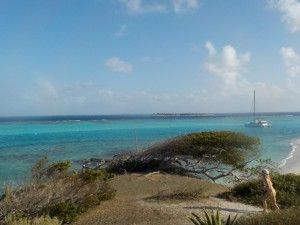 Udsigt fra en af øerne