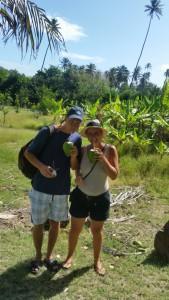 Vi drikker kokossaft