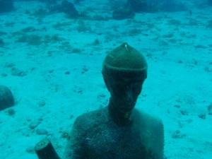 Jacque Cousteau på 12 meters dybde