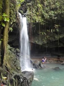 Emerald Pool - et stort vandfald