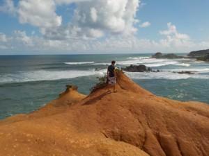 Martin på red rock med udsigt til Atlanterhavet