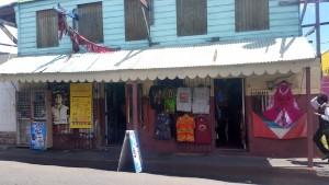 Typisk gade i St. John