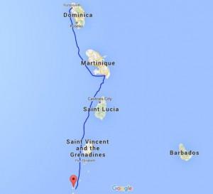 Fra Union Island til Martinique og videre til Dominica