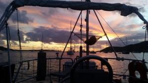 Solnedgang i Caribien