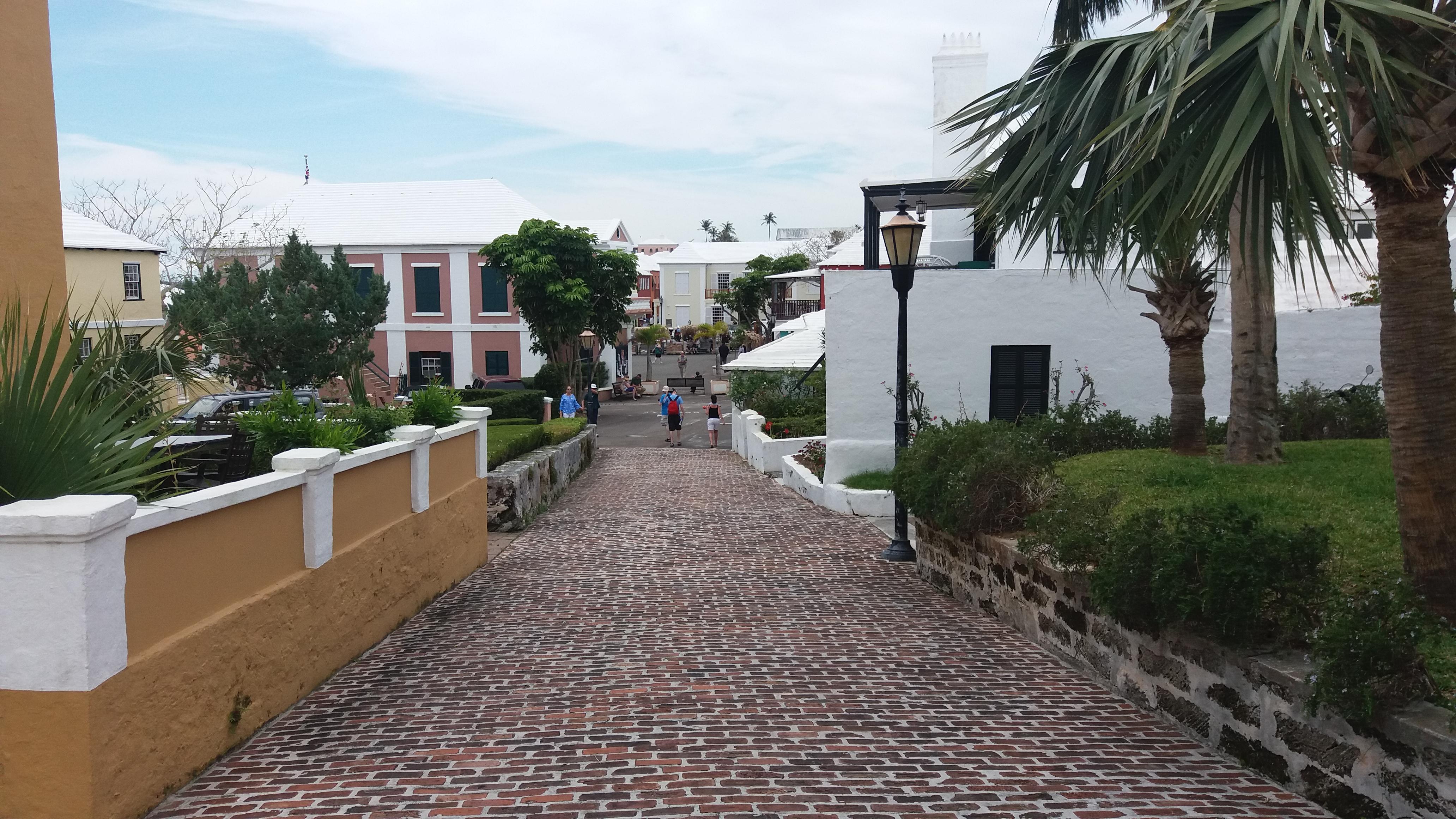 Smuk gade i historiske St. George