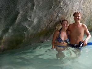 Martin og Terese i grotte