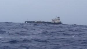 Skib på toppen af bølgen