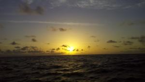 Smuk solnedgang