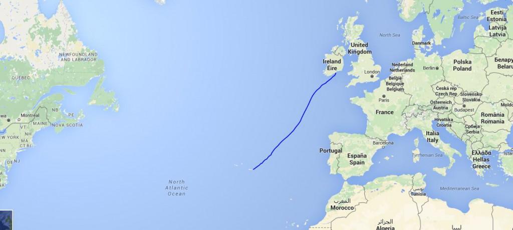 Fra Azorerne til Irland